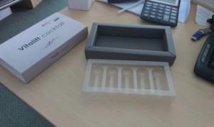 pudełko z nadrukiem z plastikową wkładką