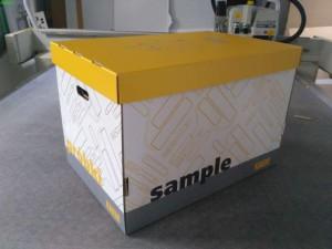 pudełko z nadrukiem sample